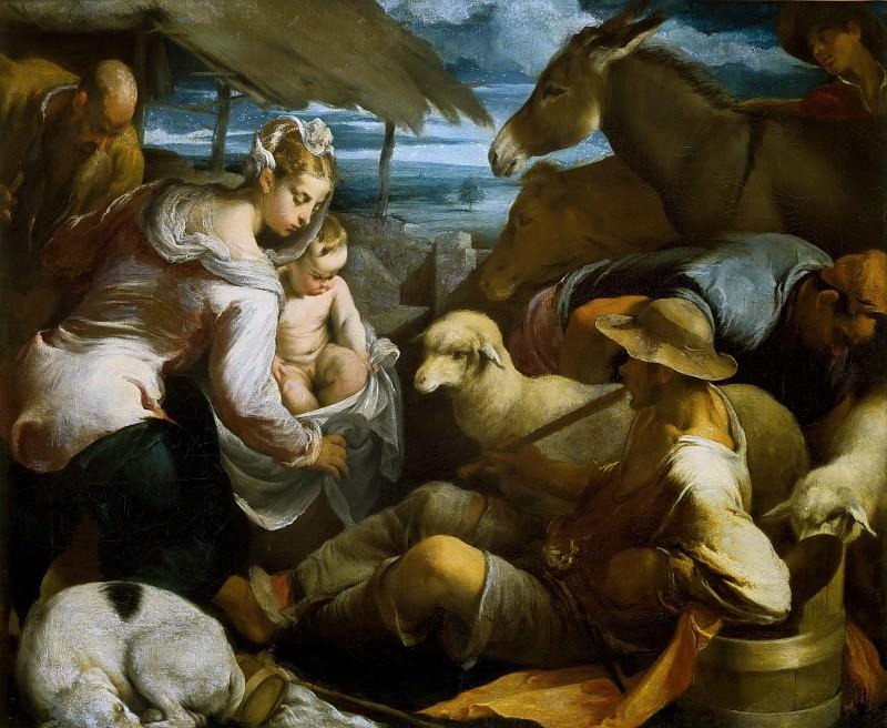 Поклонение пастухов. Якопо Бассано