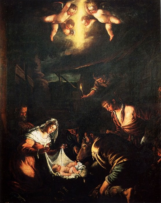 The Adoration Of The Shepherds. Jacopo Bassano