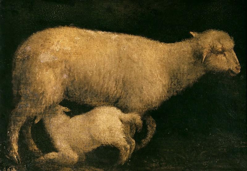 Sheep And Lamb. Jacopo Bassano