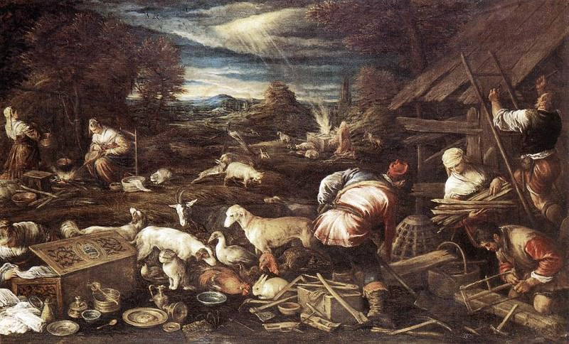 Noahs Sacrifice. Jacopo Bassano