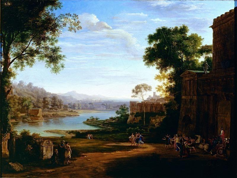 Речной пейзаж с исторической сценой. Пьетро Бенальо