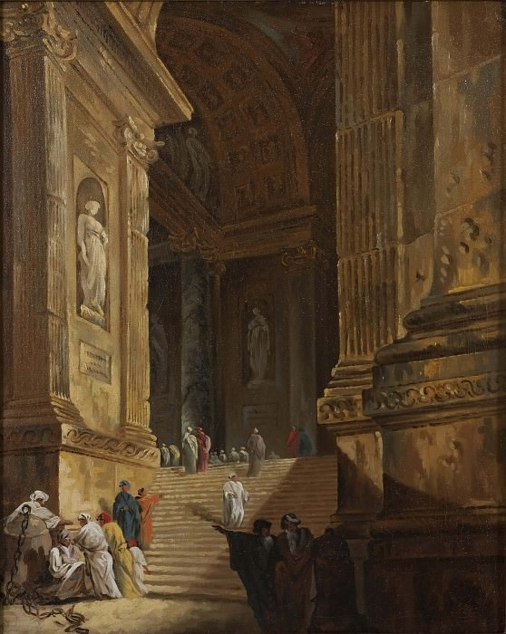 A Temple Staircase. Piece of Architecture. Johan Gottlob Brusell