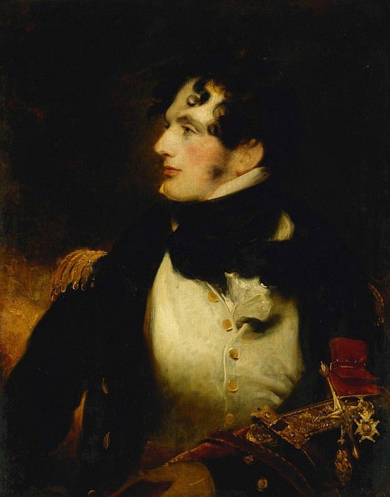Portrait of a Naval Officer, Half Length, in Uniform, Carrying a Presentation Sword. Sir Henry William Beechey