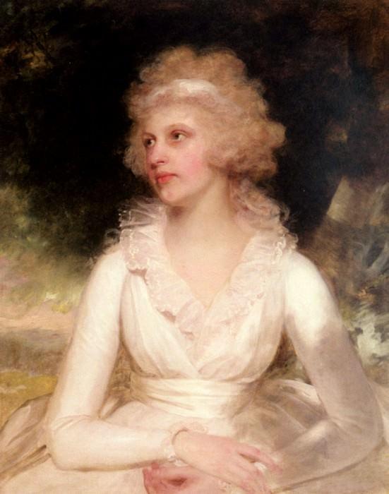 Portrait Of Sophia Anne Raymond Barker. Sir Henry William Beechey
