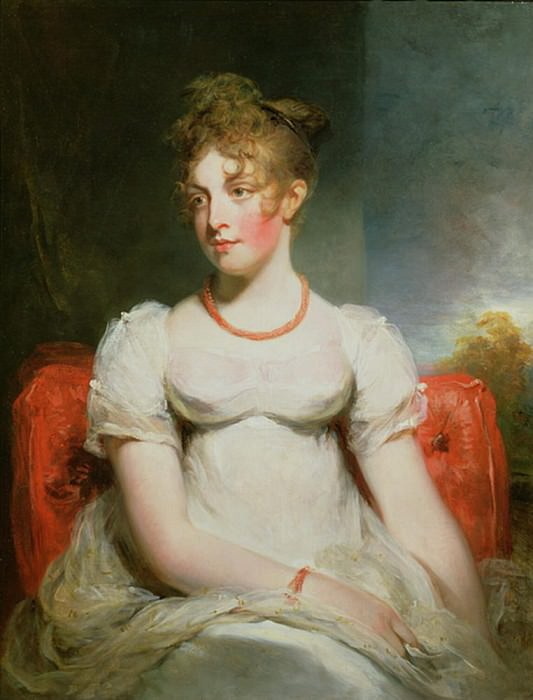 Portrait of Frances Elizabeth Addington (1788-1828). Sir Henry William Beechey