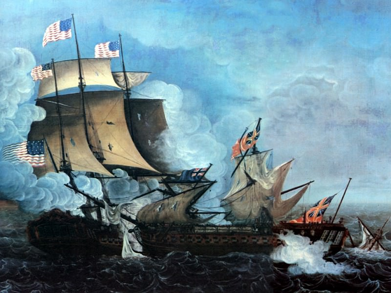 JLM-1813-Thomas Birch-Constitution and Guerriere. Thomas Birch