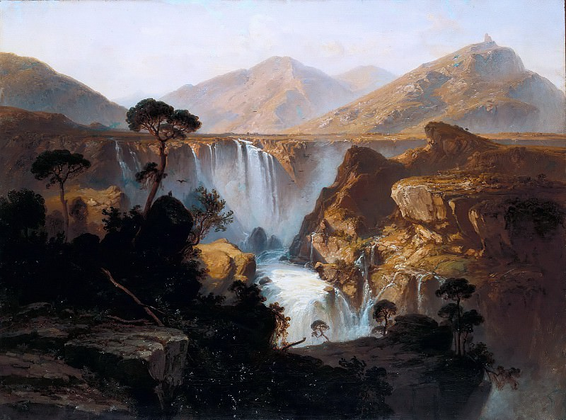 Waterfall in the Andes of Venezuela. Ferdinand Bellermann