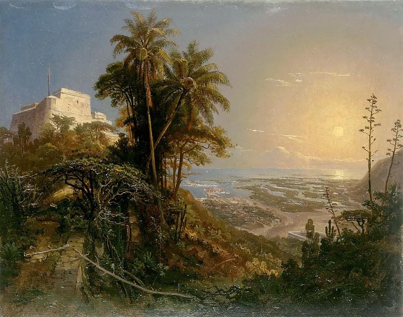 View of the Harbor of Puerto Cabello. Ferdinand Bellermann