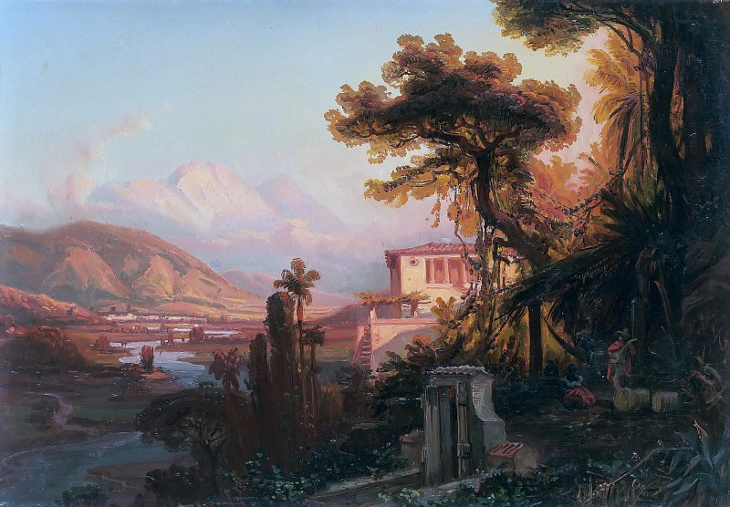 Evening in the Valley of Antimano. Ferdinand Bellermann