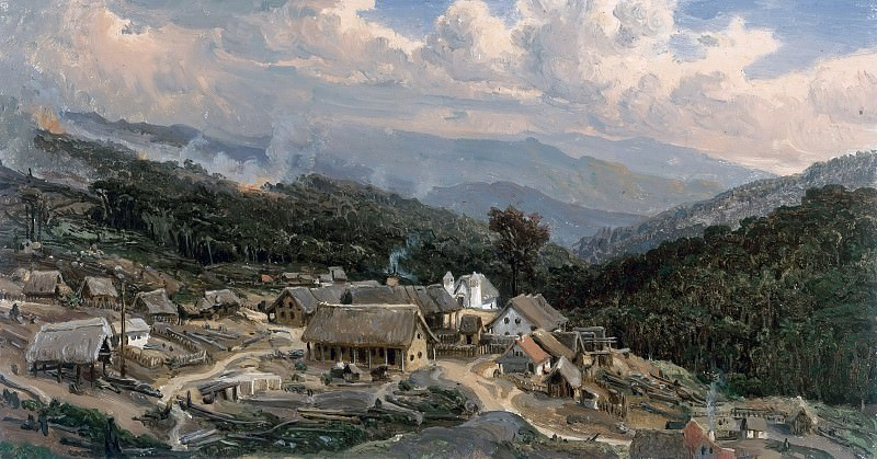 View of the Colony of Tovar, Venezuela. Ferdinand Bellermann