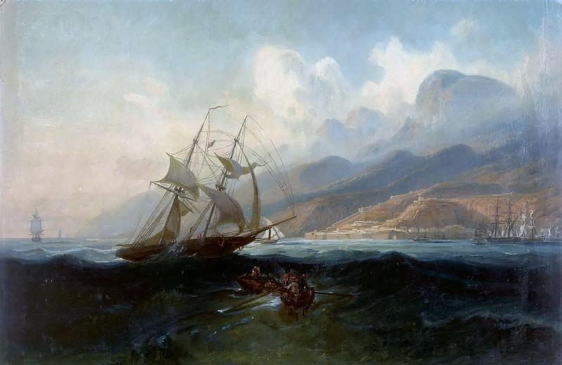 View of La Guaira from the Sea. Ferdinand Bellermann