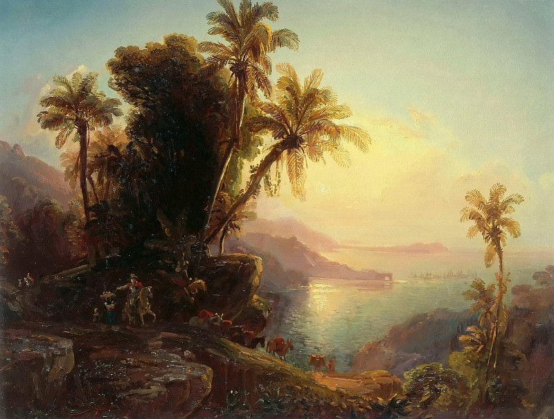 Coastline of La Guaira at Sunset. Ferdinand Bellermann