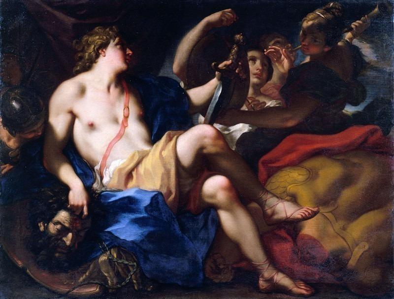 Давид с головой Голиафа. Антонио Балестра