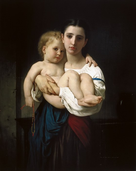 The Elder Sister. Adolphe William Bouguereau
