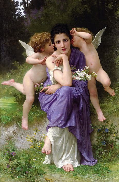 Songs of Spring. Adolphe William Bouguereau