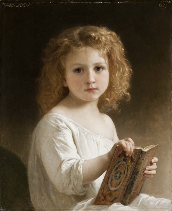 The Story Book. Adolphe William Bouguereau