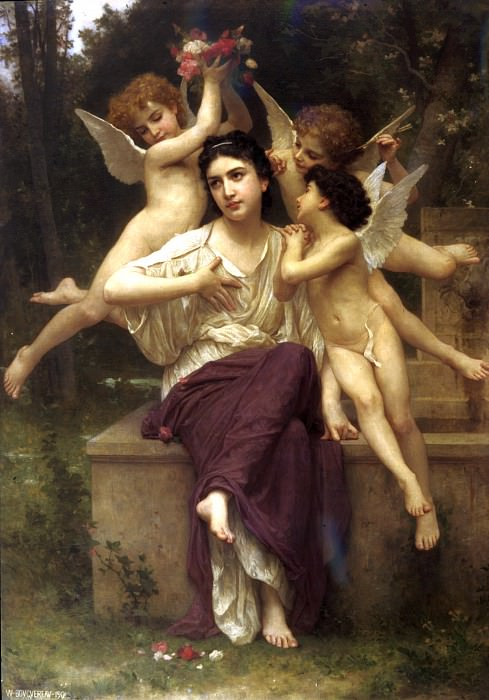 A Dream of Spring. Adolphe William Bouguereau