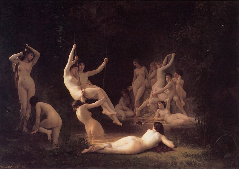 The Nymphaeum. Adolphe William Bouguereau