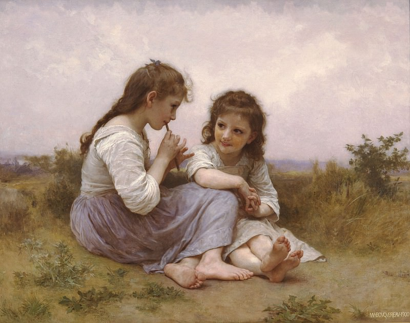 Child´s Idylle. Adolphe William Bouguereau