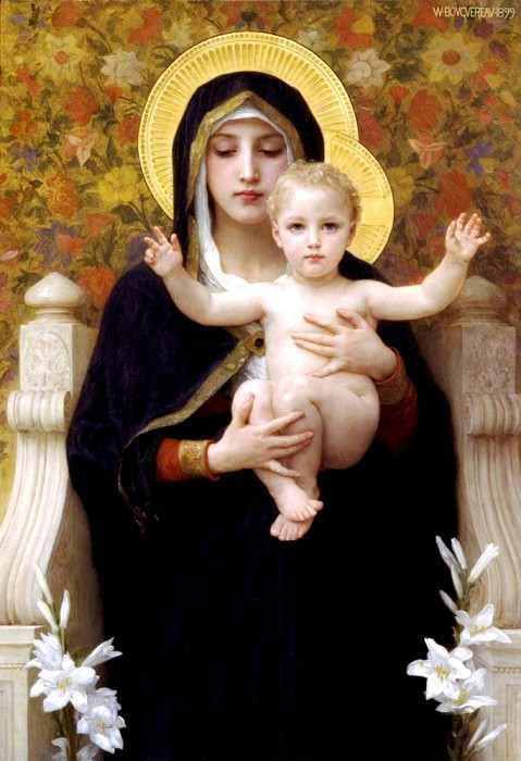 The Virgin of the Lilies. Adolphe William Bouguereau