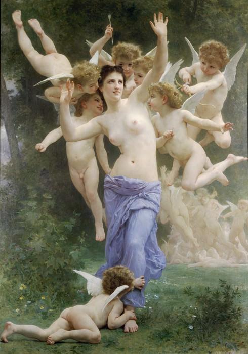 Le guepier. Adolphe William Bouguereau