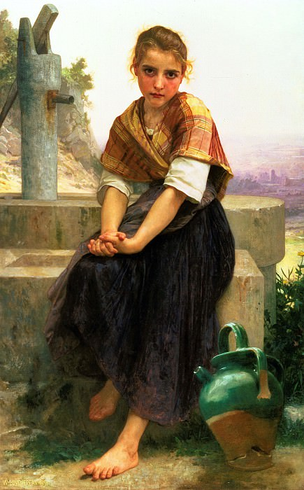 The Broken Pitcher. Adolphe William Bouguereau