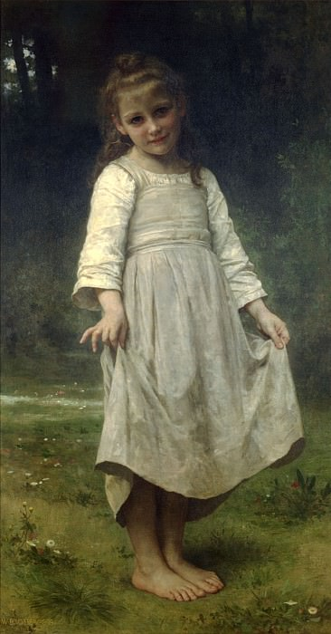 The reverence. Adolphe William Bouguereau