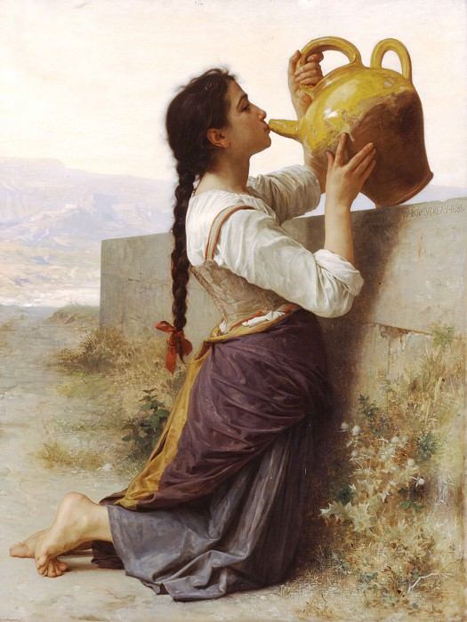 Thirst. Adolphe William Bouguereau