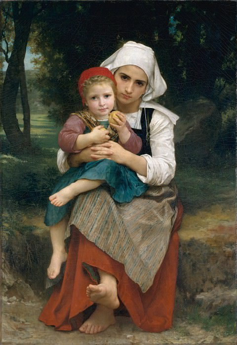 Breton Brother and Sister. Adolphe William Bouguereau