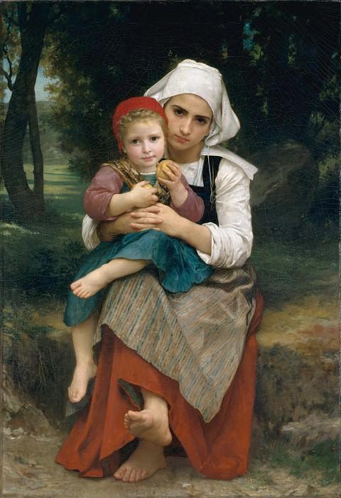 Бретонские брат и сестра. Адольф Уильям Бугро