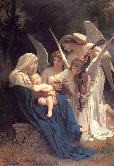 Мадонна с Младенцем и музыцирующими ангелами (Песня ангелов). Адольф Уильям Бугро