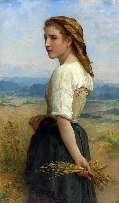Gleaner. Adolphe William Bouguereau