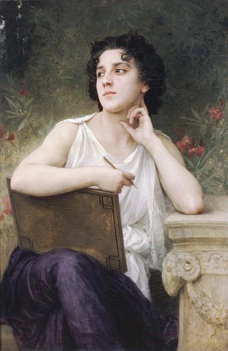 Inspiration. Adolphe William Bouguereau