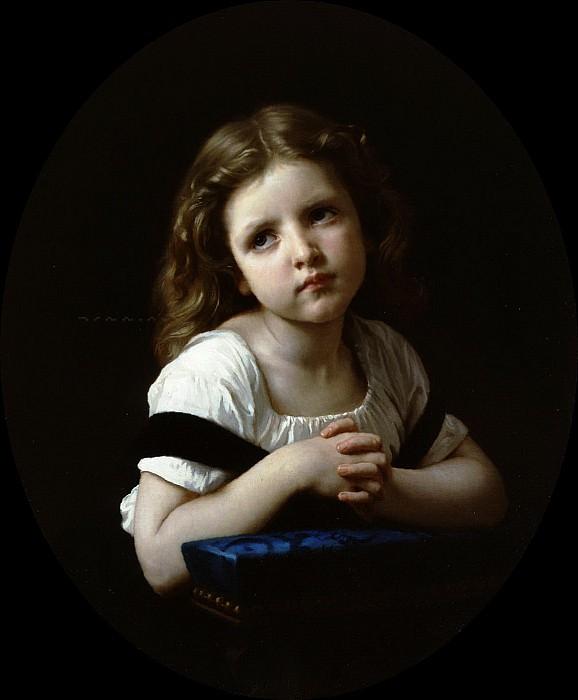 The Prayer. Adolphe William Bouguereau