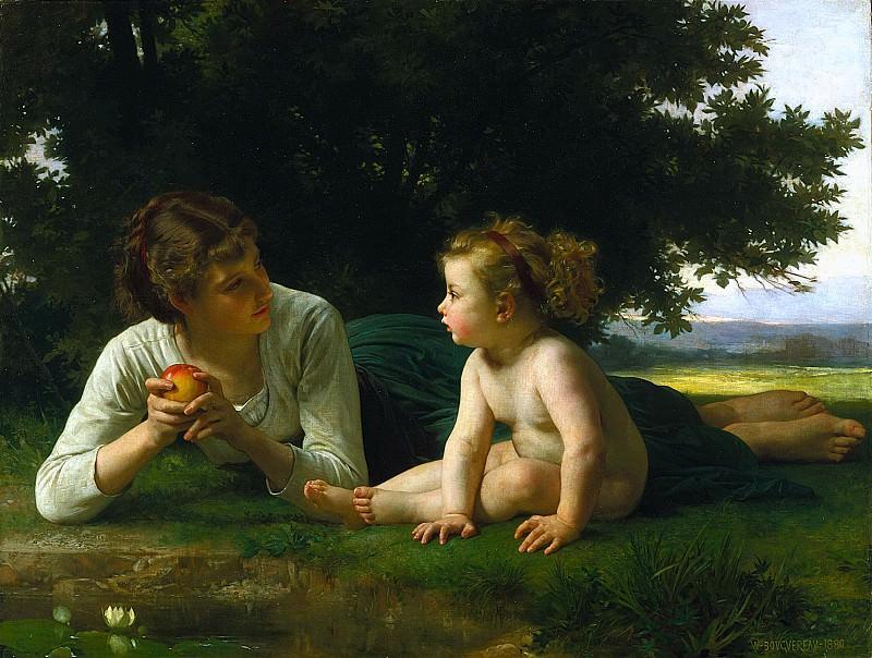 Temptation. Adolphe William Bouguereau