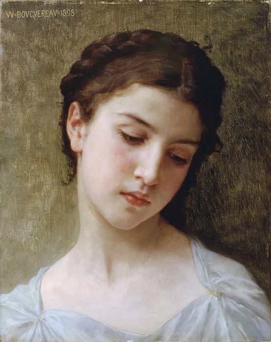 Study of Girl. Adolphe William Bouguereau