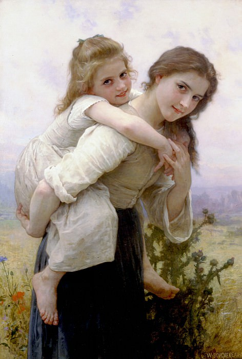Fardeau agreable. Adolphe William Bouguereau