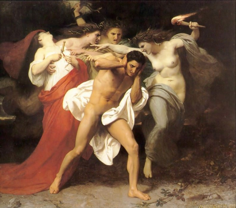 Orestes Pursued by the Furies. Adolphe William Bouguereau