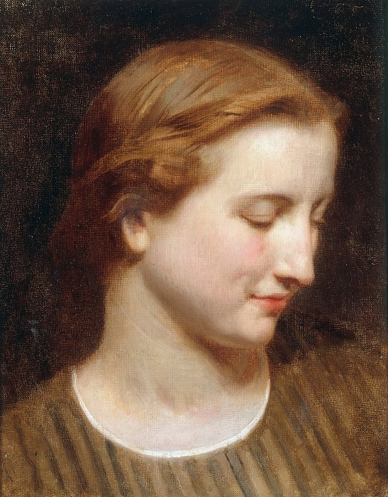 Head study of a woman. Adolphe William Bouguereau
