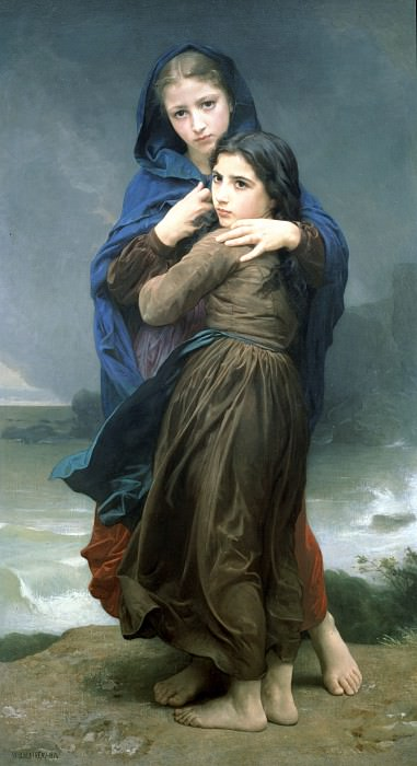 The storm. Adolphe William Bouguereau