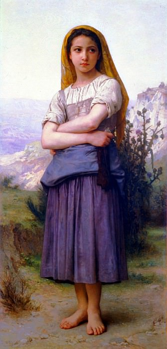 Shepherdess. Adolphe William Bouguereau