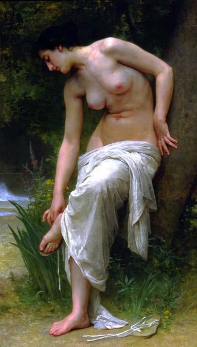 After the bath. Adolphe William Bouguereau