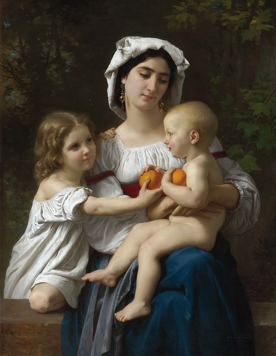 ORANGES. Adolphe William Bouguereau