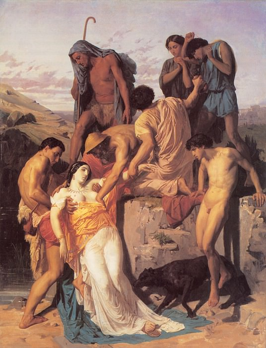 Zenobia Found by Shepherds on the Banks of the Araxes. Adolphe William Bouguereau