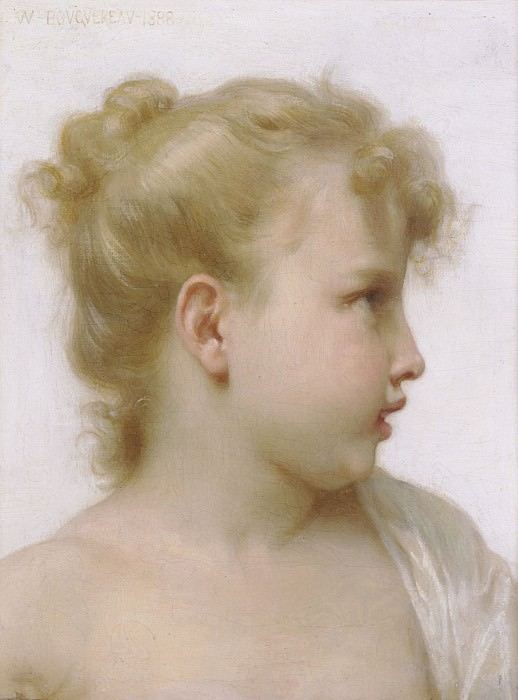 Study of young Girl. Adolphe William Bouguereau