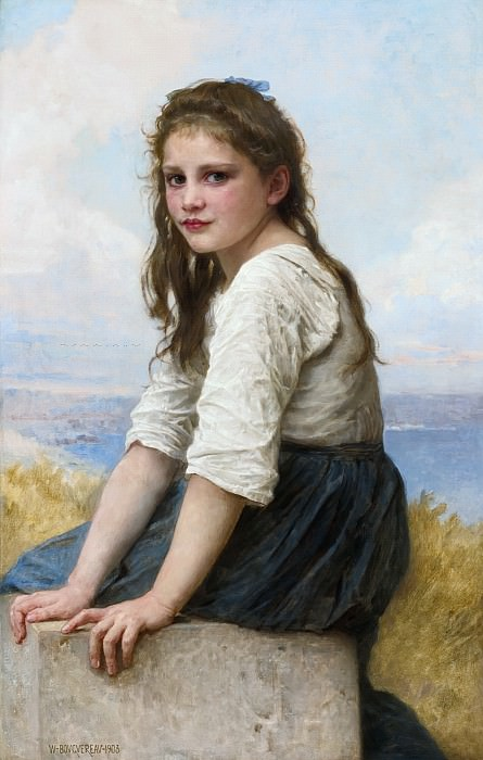 On the sea shore. Adolphe William Bouguereau