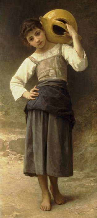 Girl Going to the Fountain. Adolphe William Bouguereau