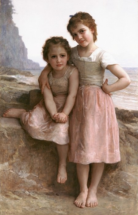 On the Rocky Beach. Adolphe William Bouguereau