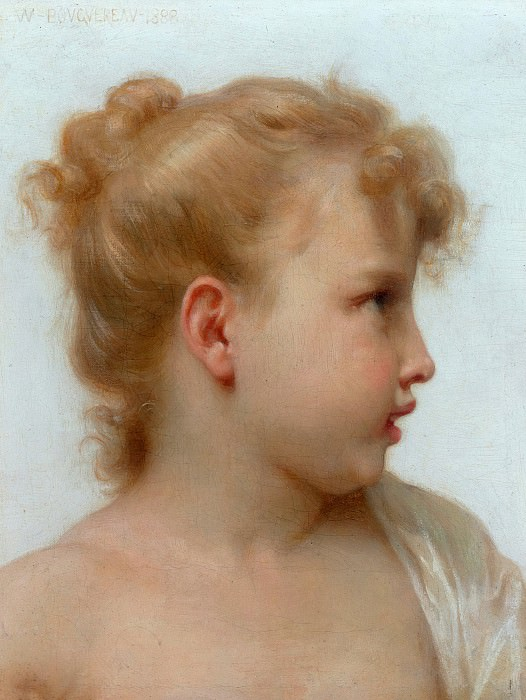 Girls head. Adolphe William Bouguereau