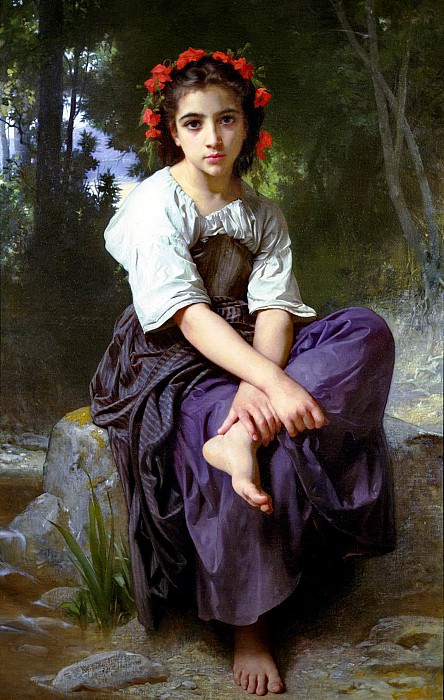 At the Edge of the River. Adolphe William Bouguereau